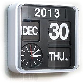 Amazon Com Fartech Retro Modern 9 5 Quot Calendar Auto Flip