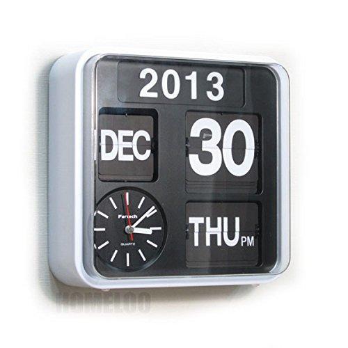 Retro Calendar Wall Clock - Fartech Retro Modern 9.5