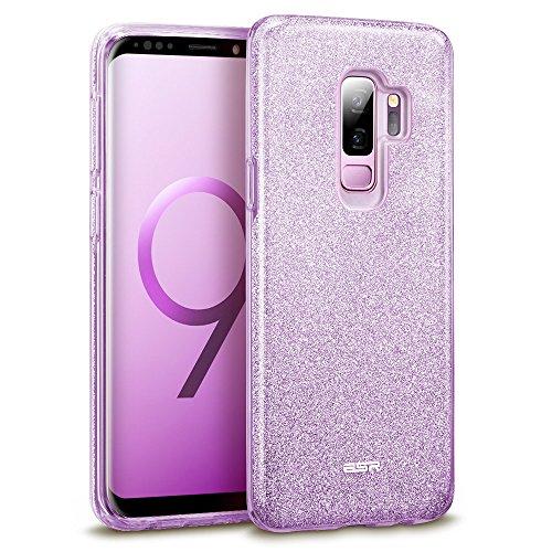 Samsung Galaxy S9+ Plus Case, ESR Glitter Sparkle Bling Case Protective Cover [Three Layer] [Supports Wireless Charging] for Samsung Galaxy S9+ Plus 6.2