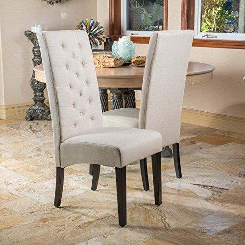 Darby Natural Linen Dining Chair (Set Of 2) Features
