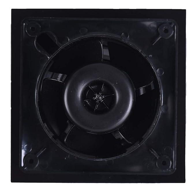 Cata | Extractor baño | Modelo E-100 GT BK | Extractor de baño Serie E Glass | Extractores de aire | Extractor de baño silencioso | Color negro | 6 ...