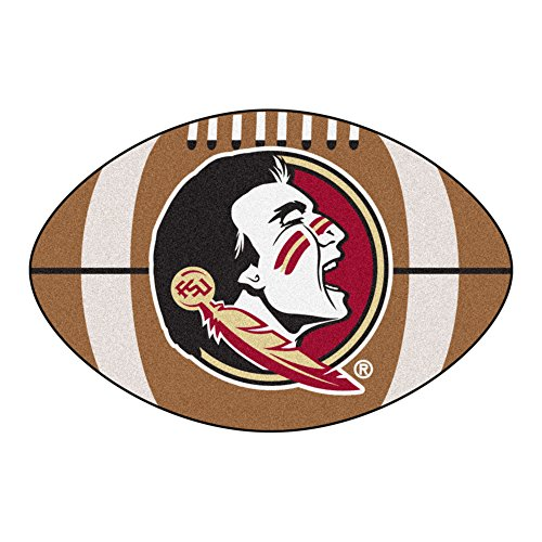 Fanmats NCAA Florida State University Seminoles Nylon Face Football Rug by Fanmats