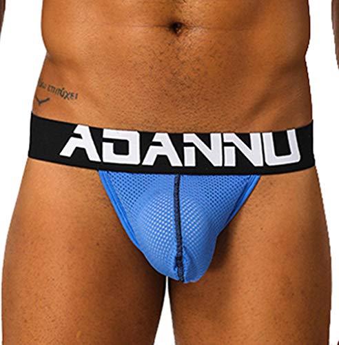 Mlide Moda Hombre Empalme Calzoncillos Calzoncillos Calzoncillos Pantalones Cortos Ropa Interior Sexy Blue