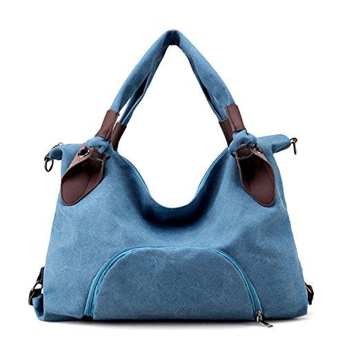 Blue A Inclined Nuovo Borsa Europa Donna Tela Tracolla Moda Tote Usura Borse 0vwdqPd