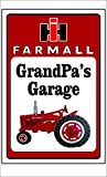 Farmall Tractor Sign Personalize for Free (8 inch x 12 inch)