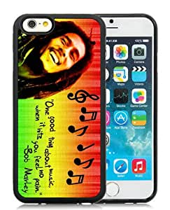 Unique iPhone 6S TPU Skin Case ,Fashionable And Durable Designed Phone Case With Bob Marley Black iPhone 6S Screen Cover Case