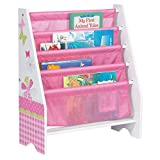 Hello Home Butterflies and Flowers Kids Sling Bookcase