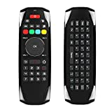 Air Mouse Wireless Keyboard Remote Control Infrared Remote Learning 6-Axis Motion Sensing for Smart TV/Android TV BOX/PC,2.4G