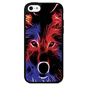 Colorful Abstract Wolf Hard Snap on Phone Case (iPhone 5c)