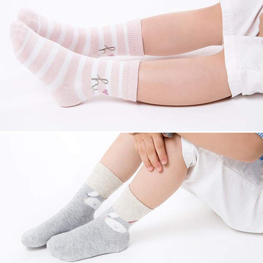5 Pairs Football Colorful Cotton Crew Seamless Socks for Kids Toddler Big Little Boys Girls