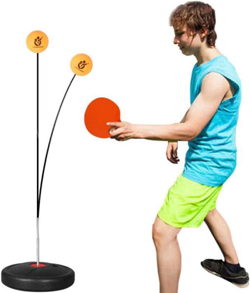 G&UWEI El Rebote Mejorado Trainer Mesa De Ping Pong, Ping-Pong Pista De Paddle Conjunto De Entrenamiento De Altura Regulable con Dispositivo Flexible Rápido Rebote De Personal/Doble Ejercicio