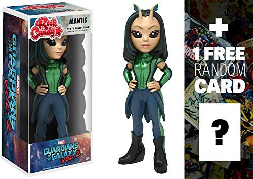 Funko Mantis Rock Candy x Guardians of The Galaxy 2 Vinyl Figure + 1 Free Official Marvel Trading Card Bundle ()