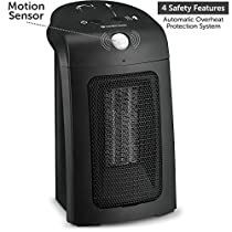 BOVADO USA Personal Ceramic Space Heater with Motion Sensor - Automatic Safety Shut Off - Adjustable, Portable and Lightweight - by Comfort Zone