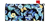 Toland Home Garden Blue Butterfly Insect Flower Magnetic Mailbox Cover