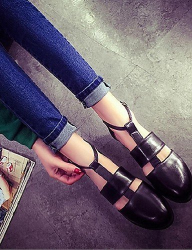 ShangYi Women's Shoes Flat Heel Gladiator/Open Toe Sandals Casual Black/White White RK5f8DwsZz