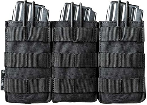 Tiberius Arms Paintball M4 Triple Mag Pouch - Black