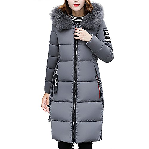 Coats For Women Winter Sale,Clearance Sale!!Farjing Women Casual Thicker Winter Slim Down Coat Lammy Jacket Overcoat(M,Gray)
