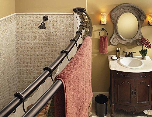 Moen Dn2141owb Adjustable Double Curved Shower Rod Old