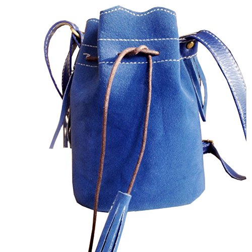 Bags Womens Shoulder Mini Scrub Creel Tassel Totes FTSUCQ Handbags Blue Bucket Hobos pqgBfxBw