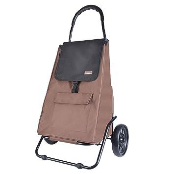 Carros de Compra Plegables con Ruedas Carrito para Equipaje Mercado Compras Plegable Hogar portátil Portátil (Color : Brown): Amazon.es: Equipaje