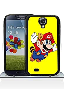Cute Funda Case For Galaxy S4, Super Mario Game Scratch-Proof High Impact Unique Design Slim Fit Back Film Skin For Samsung Galaxy S4 i9500