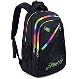 UTO Backpack Nylon Child Teenager Rucksack Primary Junior School Bookbag 520 Black