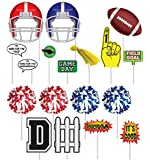 Football Party Decorations- Football Photo Booth Props- 18 Pcs