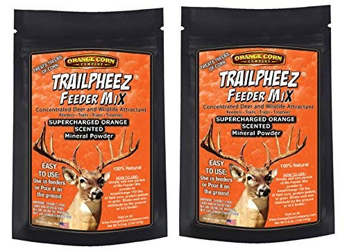 Orange Corn Company / TRAILPHEEZ Orange Flavored Feeder Mix/Concentrated Deer and Wildlife Attractant That Drive Whitetail Bucks Crazy (2 Pack)