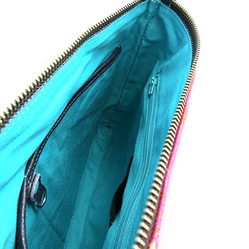Bolso de la bolsa 'Gabs'de color rosa púrpura (suspensiones)- 28x21x2 cm.