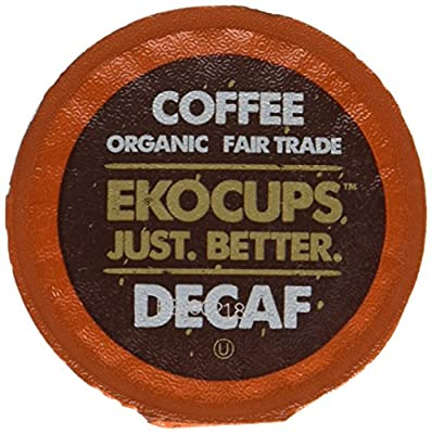 EKOCUPS Artisan Organic Decaf Vanilla Medium Roast Coffee In Recyclable Single Serve Cups for Keurig K-Cup Brewers, 40 Count