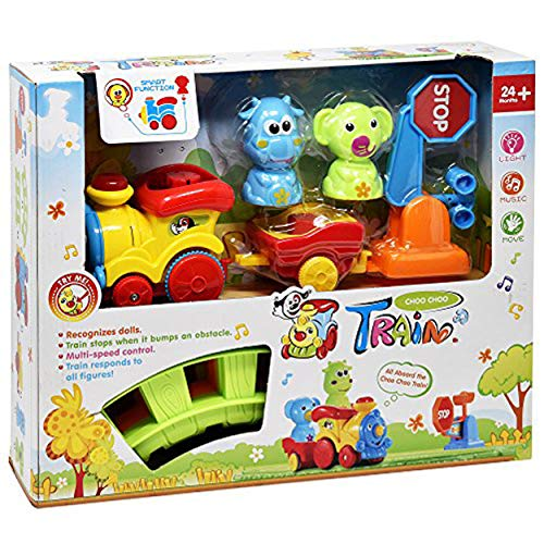 (Train Set for Toddlers - Music Train Toy Includes Choo Choo Train Tracks and Motorized Train Cars with Animals - Educational Playset for Boys and Girls)