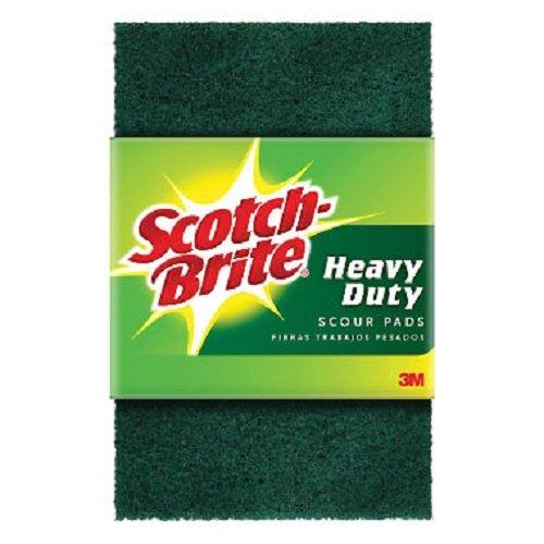 Scotch-Brite Heavy Duty Scour Pads, 3 Pads/Pk, 24-Packs (72 Pads Total)