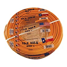 DiversiTech 620-6-2 Non-Metallic Sheathed Cable Romex Wire, 6 AWG, 2 Conductors, 125'