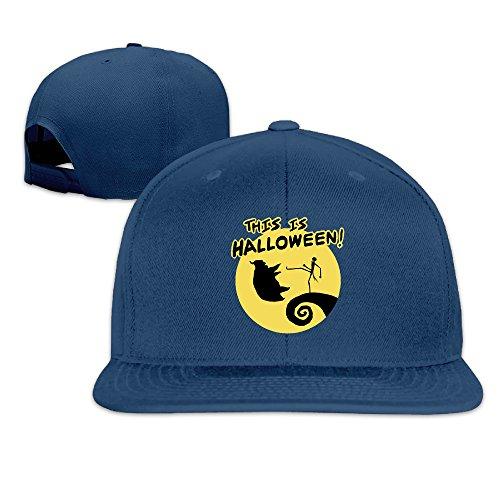 Karoda JACK's Halloween Nightmare Flat Brim Baseball Caps Hip Hop Hat Navy ()