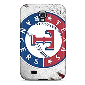 Excellent Hard Cell-phone Case For Samsung Galaxy S4 With Support Your Personal Customized Lifelike Texas Rangers Skin LauraAdamicska