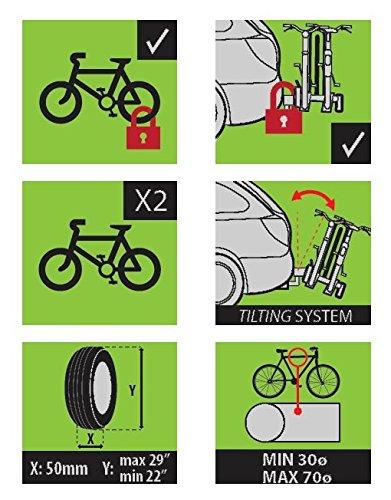 Alphard Plus rack trasero para bicicleta 3 bicicletas o 2 bicicletas eléctricas, con enganche rápido: Amazon.es: Coche y moto