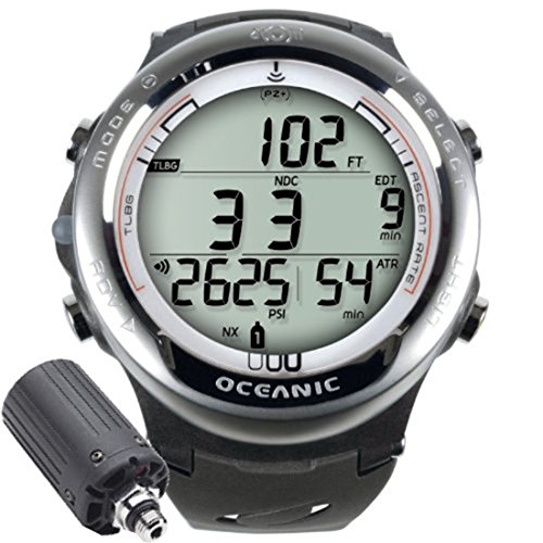 Oceanic Atom 3.1 Air / Nitrox Hoseless Computer Watch White/Grey Bands with Transmitter