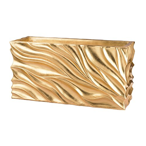 (Dimond Home Swirl Table Planter in Gold Leaf)