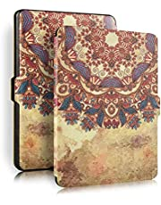 Vintage Flower Rattan Universal Protective Cover Case For Amazon Kindle Paperwhite 1/2/3 - Yellow