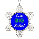 7th Gener Tree Branch Decoration Big brother /pin The Christmas Snowflake Ornament Expecting