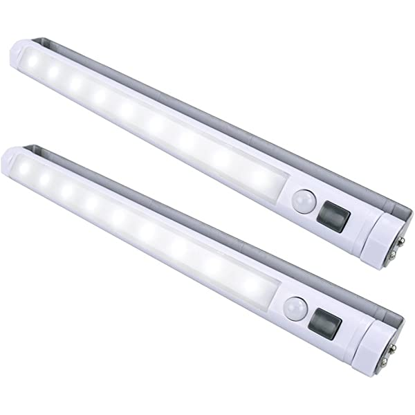 SILVER COB LIGHT ALUMINIUM MAGNETIC PUSH LIGHTS UNDER UNIT//CABINET//SHELF