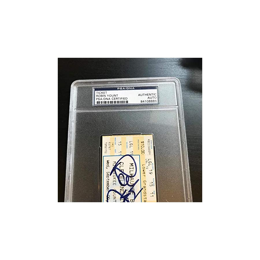 Robin Yount 3000th Hit Signed Ticket September 9, 1992 PSA DNA COA Auto