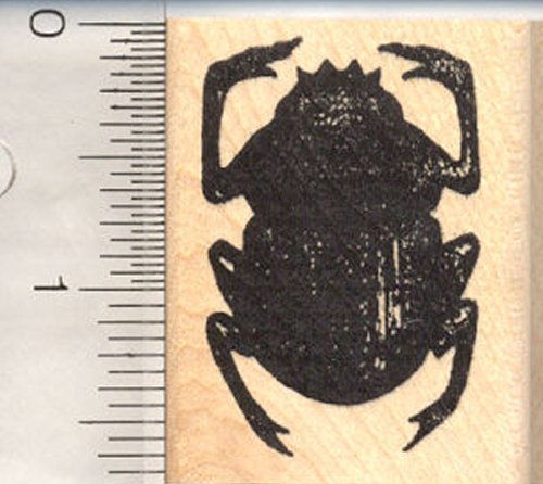 Egyptian Scarab Beetle Rubber Stamp, Symbol of Power ()