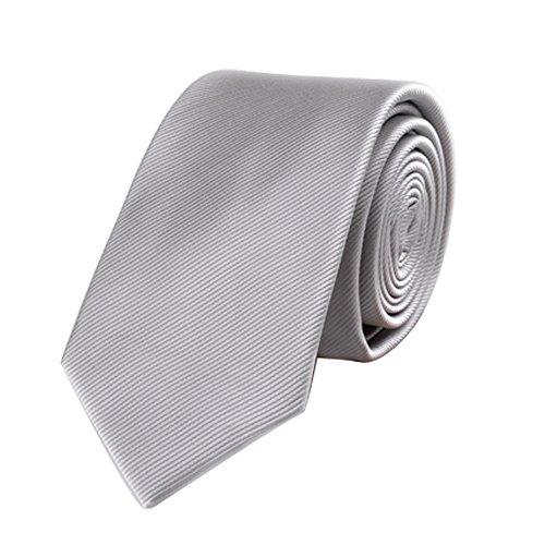 Silver Grey Neck Tie - 9