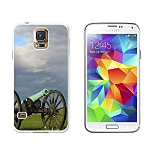 New Style Civil War Canon - Snap On Hard Protective Case for Samsung Galaxy S5 - White