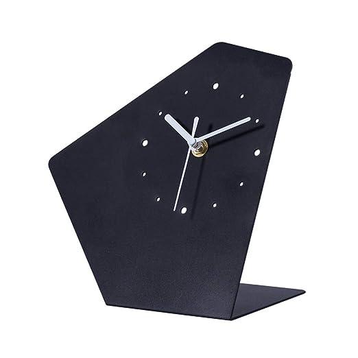 RJJ Reloj Minimalista Moderno Reloj Nórdico Reloj De Mesa Mudo De ...