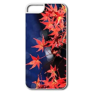 IPhone 5S Cases, Japanese Maple Leaves White Cases For IPhone 5 5S