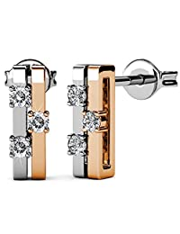 FAPPAC Bars Earrings Enriched with Swarovski Crystals