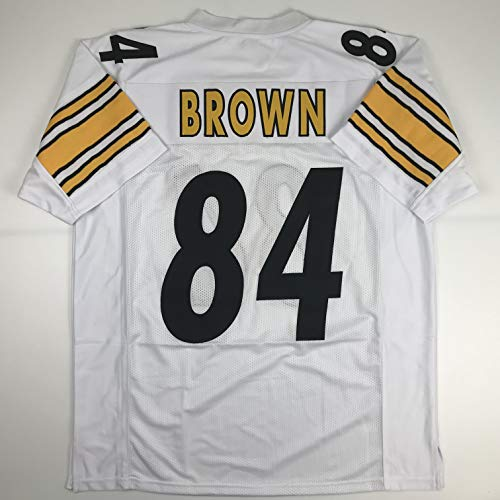 Unsigned Antonio Brown Pittsburgh White Custom Stitched Football Jersey Size Men's XL New No Brands/Logos