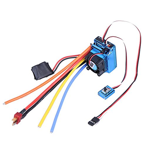 Alloet Brushless 120A ESC Sensor Brushless Speed Controller for 1:8 1:10 RC Car